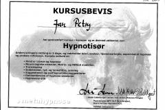 Hypnotisør - Certifikat