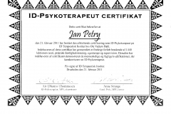 Psykoterapeut - Certificat